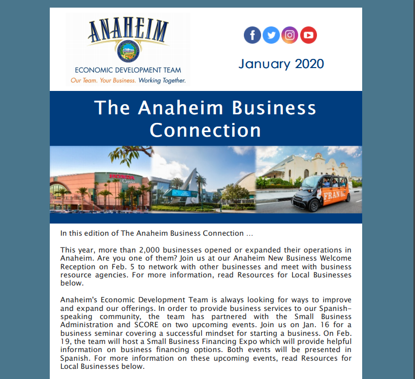 The Anaheim Business Connection - January 2020