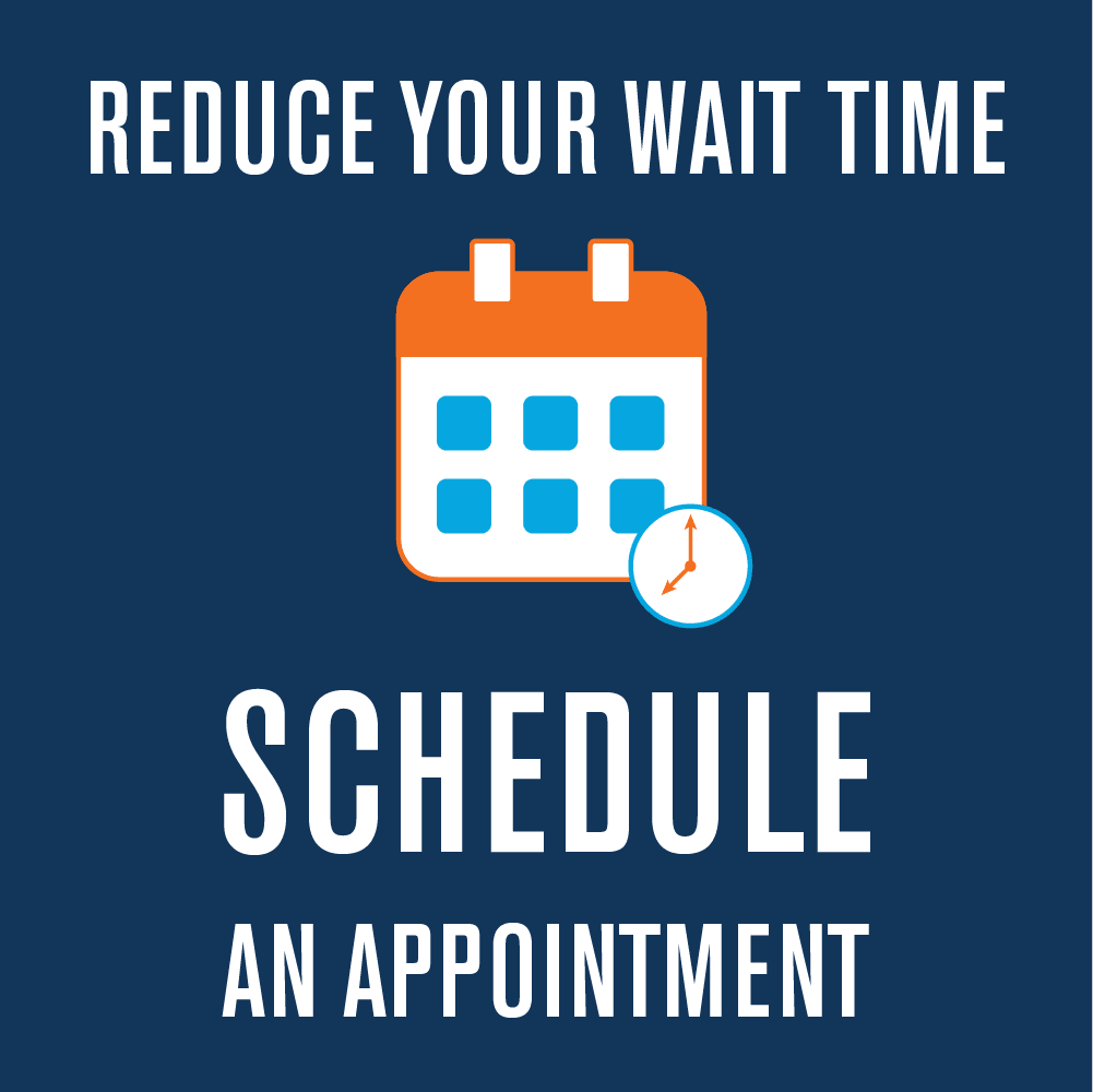 Schedule an appointment with us