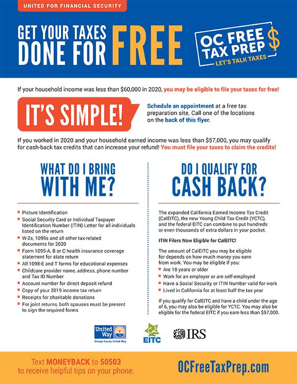 OC Free Tax Prep Flyer 2021_English