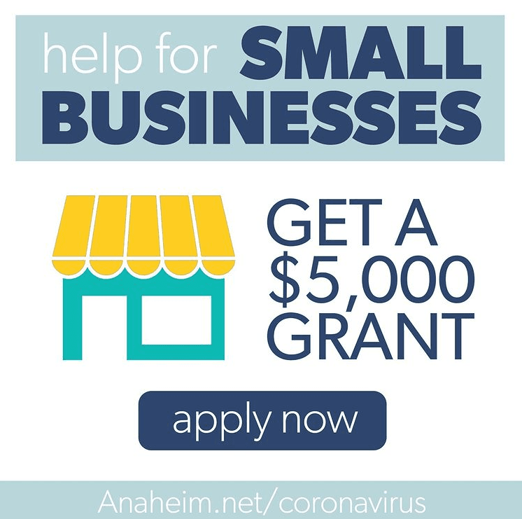 Anaheim Small Business Relief Grant - 2021 Opens in new window